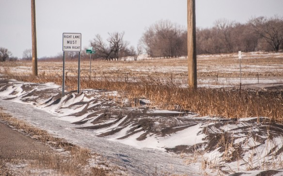 Roadside snirt has already been seen throughout the prairie this winter ... and it's still December.