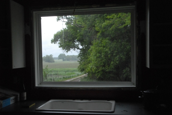 The kitchen window after installation.