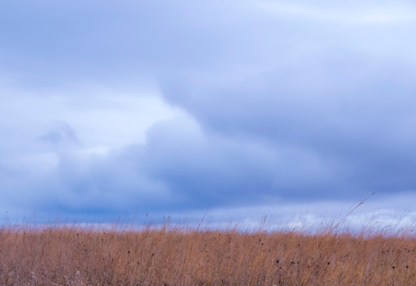 Storm clouds above the prairie ... likely a scene from the distant past.